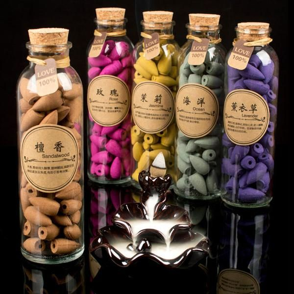 58Pcs Glass Bottle Package Flavor Can Choose Natural Smoke