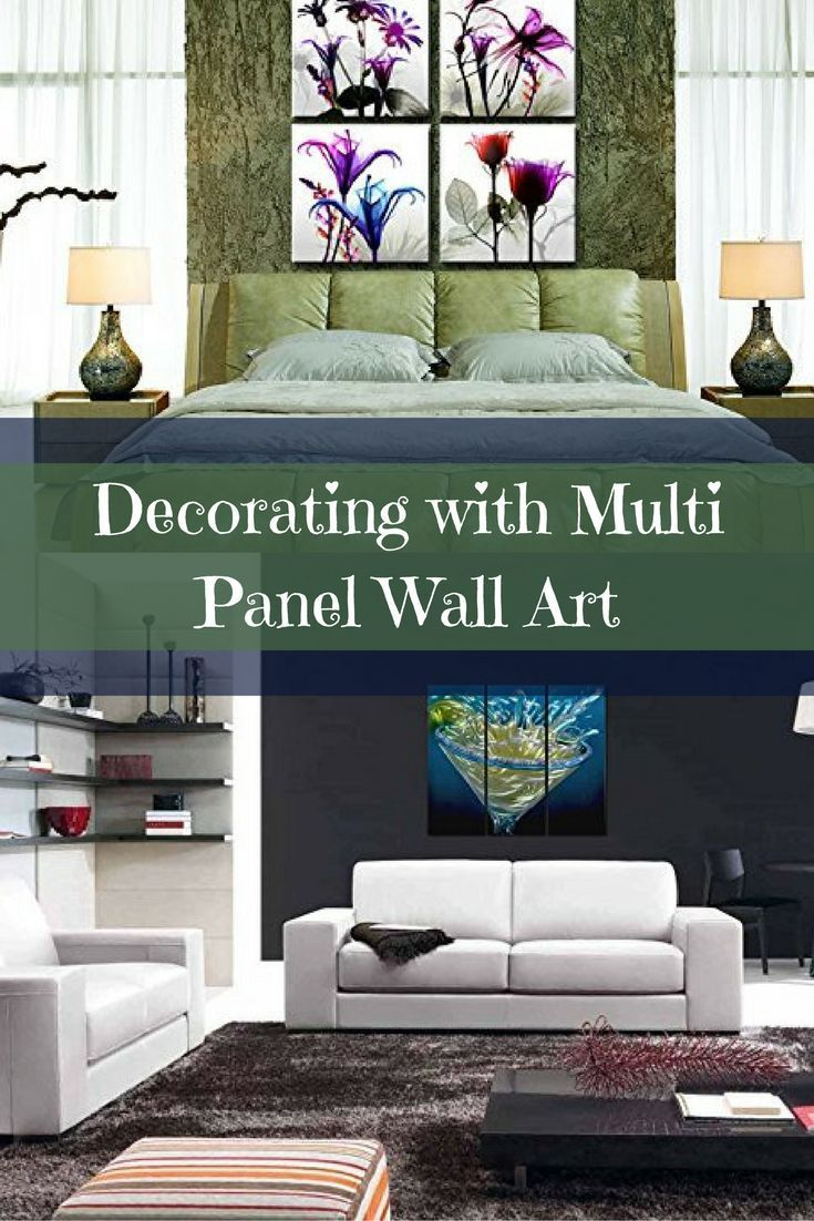 Decorating with multi panel wall art is easy fun and makes your