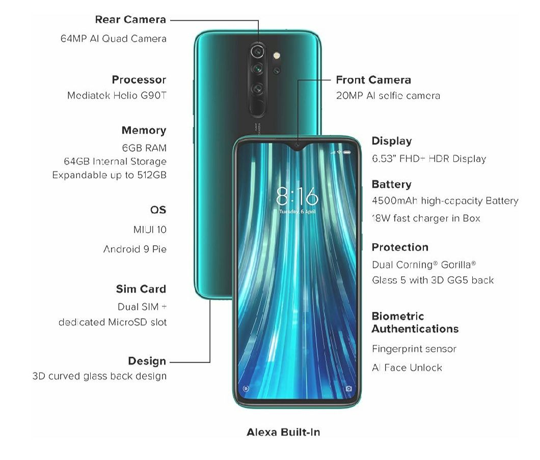 The All New Mi Redmi Note 8 Pro Tech Specs And Features New Mobile New Mobile Phones Gorilla Glass