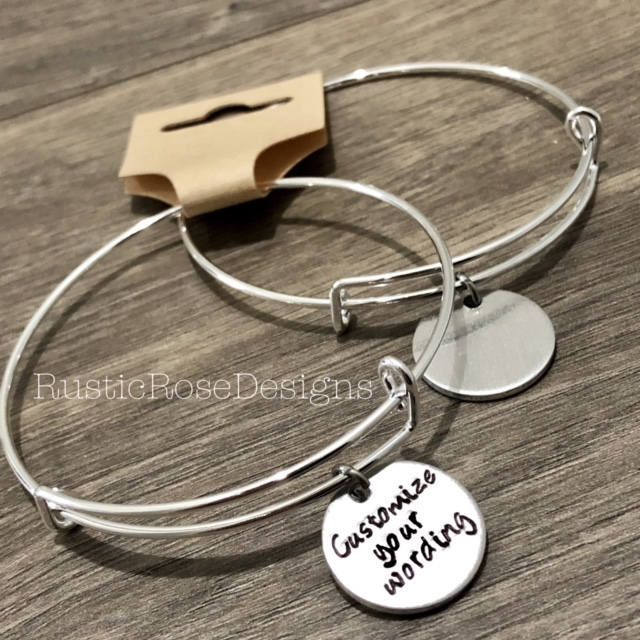 Set Of 10 Customize Your Own Bangle Charm Bracelets Company Gift Client Merchandise Promotional Products Jewelry Design