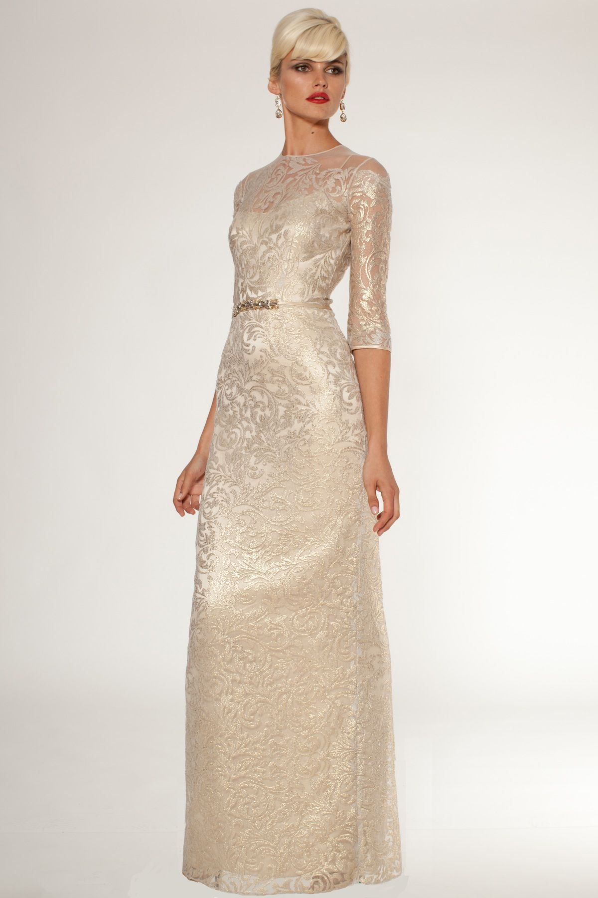 Gold, Taupe, and Neutral Mother of the Bride Dresses | Gold ...
