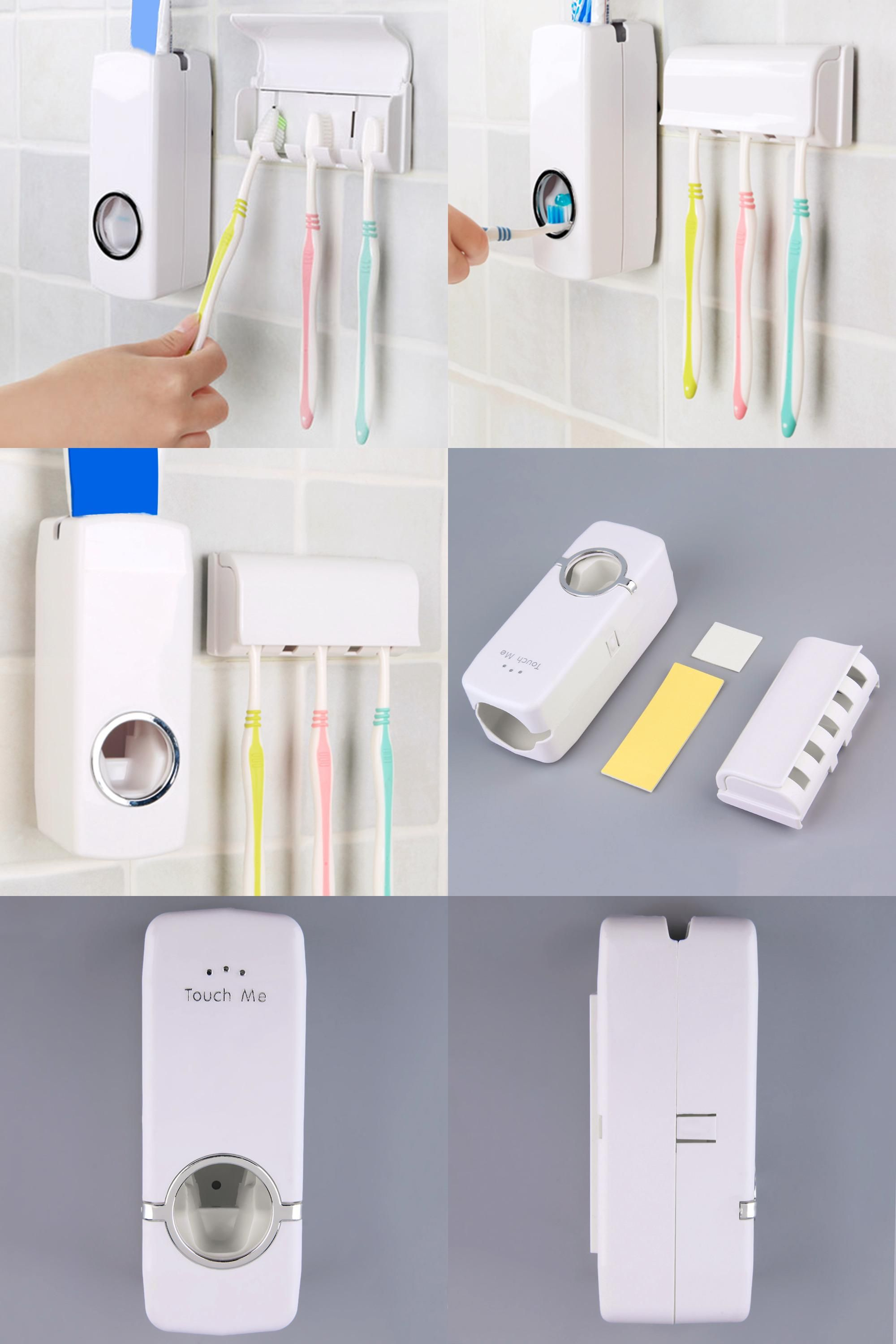 . Visit to Buy  Fashion Automatic Toothpaste Dispenser With Five