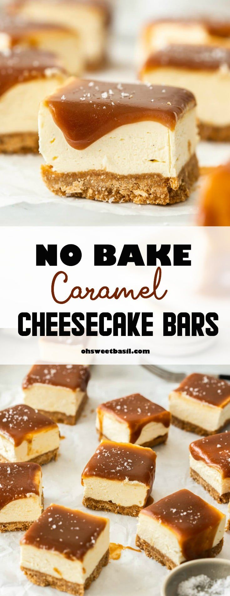 It really doesn't get better than these No Bake Caramel Cheesecake Bars. A