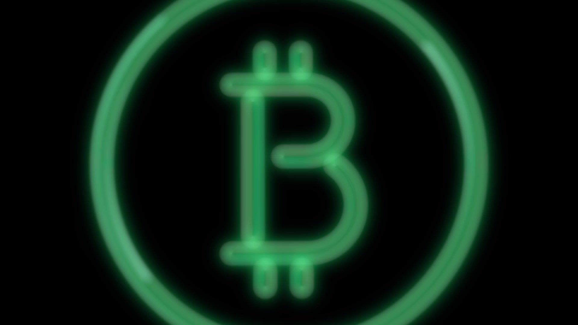 Neon Flickering Green Cryptocurrency Bitcoin Logo Alpha Channel Premultiplied Stock Footage Cryptocurrency Bitcoin Green Neo Bitcoin Logo Neon Cryptocurrency