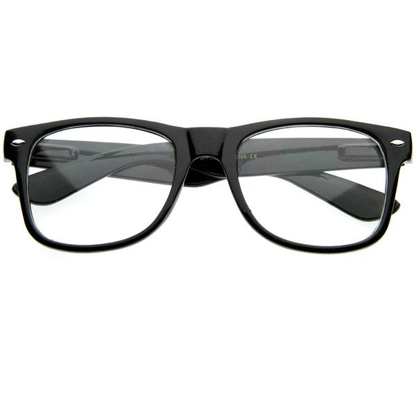 e76345bf277 Retro Clear Lens Nerd Geek Horned Rim Glasses 2873 found on Polyvore  featuring accessories