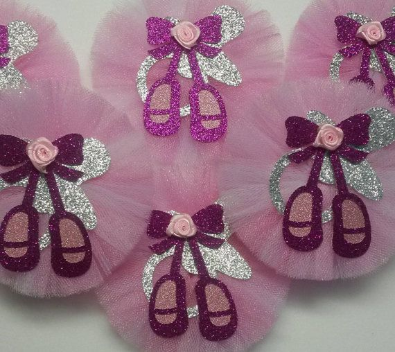 12 Ballerina Guest Pins Tutu Pins Mommy To Be Ballerina Corsage Princess Tiara  Crown Baby Shower