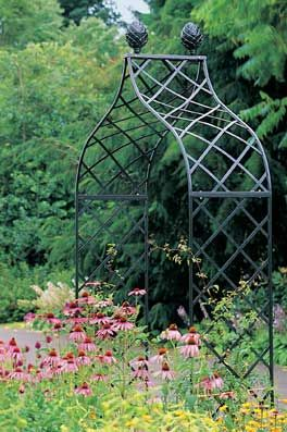 The Kiftsgate Garden Arch From Classic Garden Elements Is Crafted In Steel  That Is Hot Dip Galvanized And Powder Coated Black.