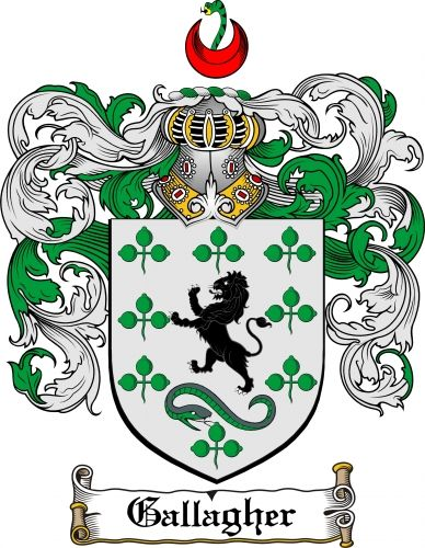 $7.99 Gallagher Coat of Arms Gallagher Family Crest Instant Download