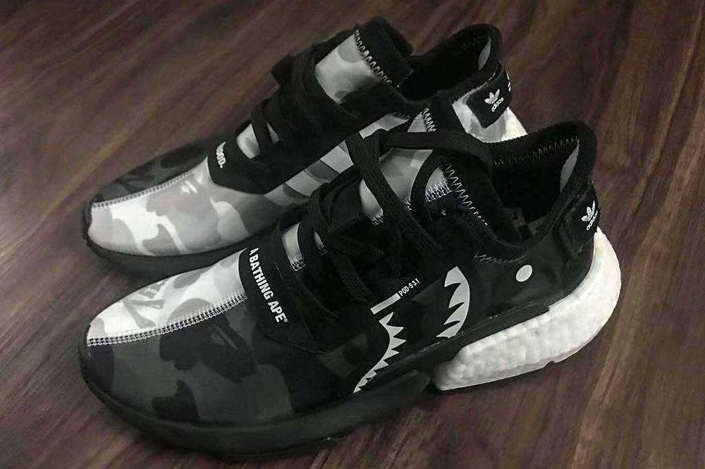 dbf585282 BAPE x NEIGHBORHOOD x adidas POD-S3.1 First Look sneaker collaboration  release date colorway grey a bathing ape footwear hypebeast streetwear price  resell