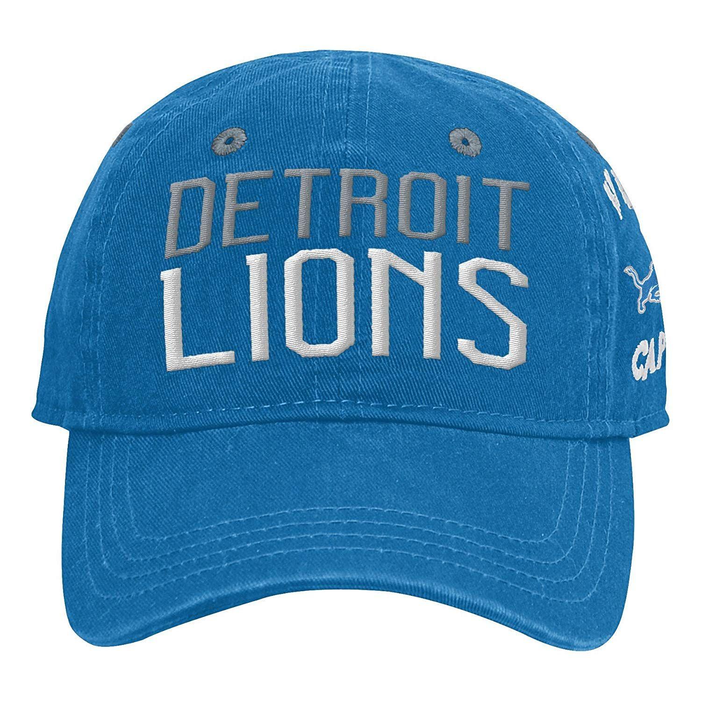 sports shoes 6039f 133ce Outerstuff NFL NFL Detroit Lions Infant My First Slouch Hat Lion Blue,   15.00