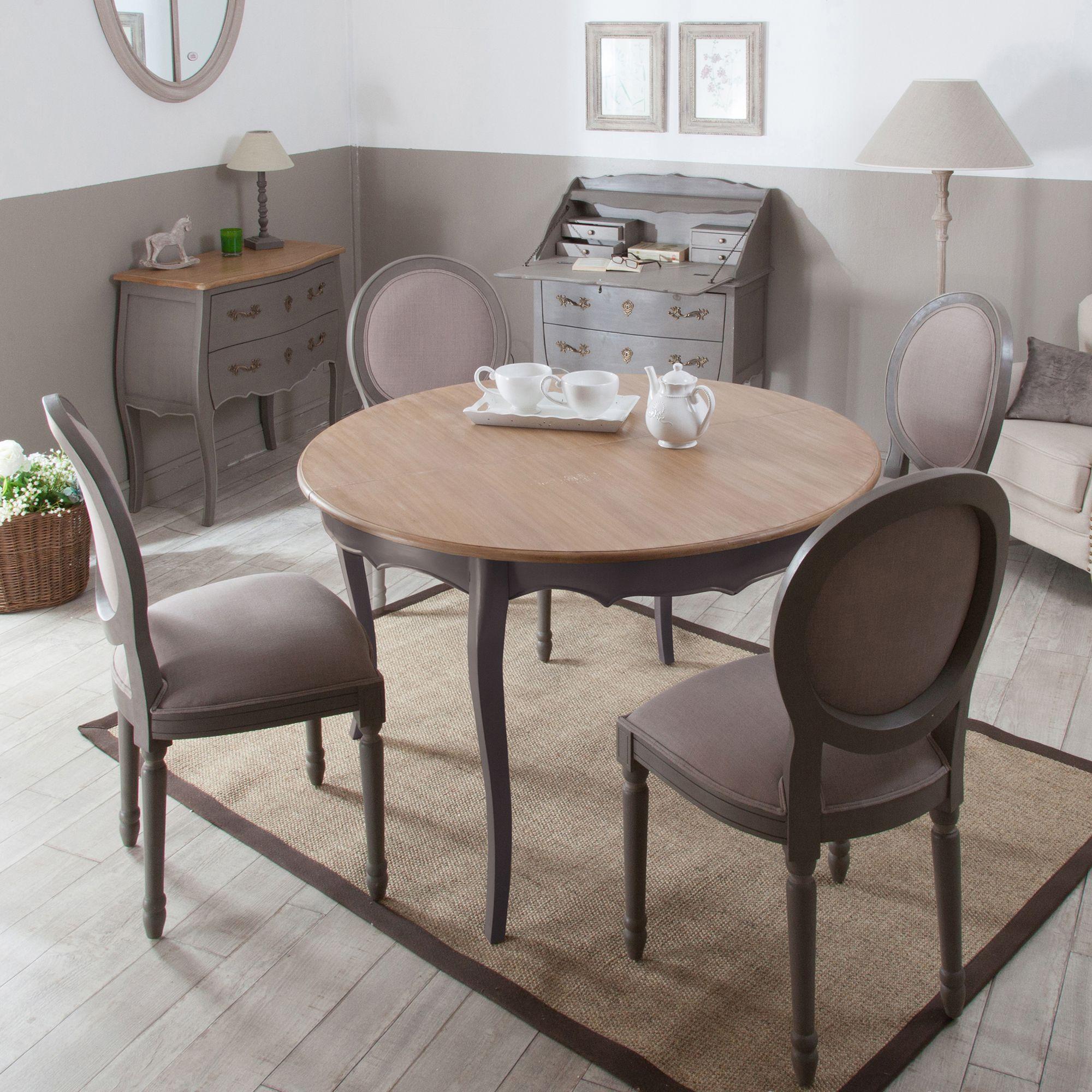 table a manger a rallonge ronde en bois