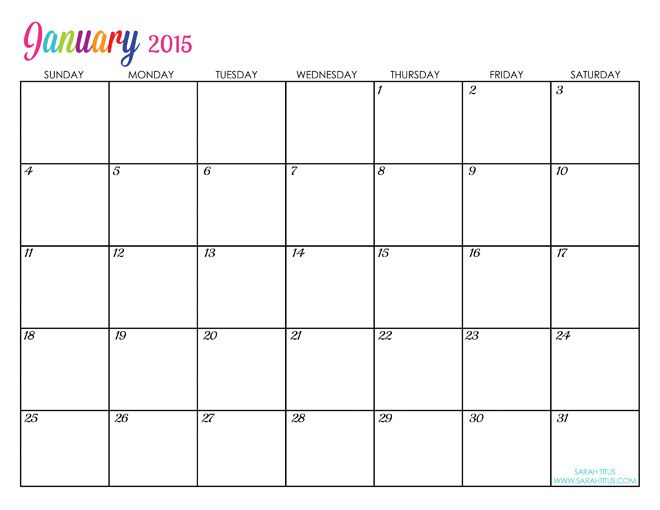 Free Printable Calendar January  Calander Editable I Will Use