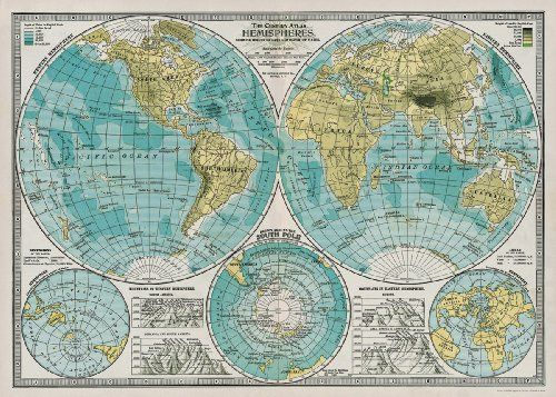 Pin by Lindsay W on Maps | Map wrapping paper, Old world maps ...