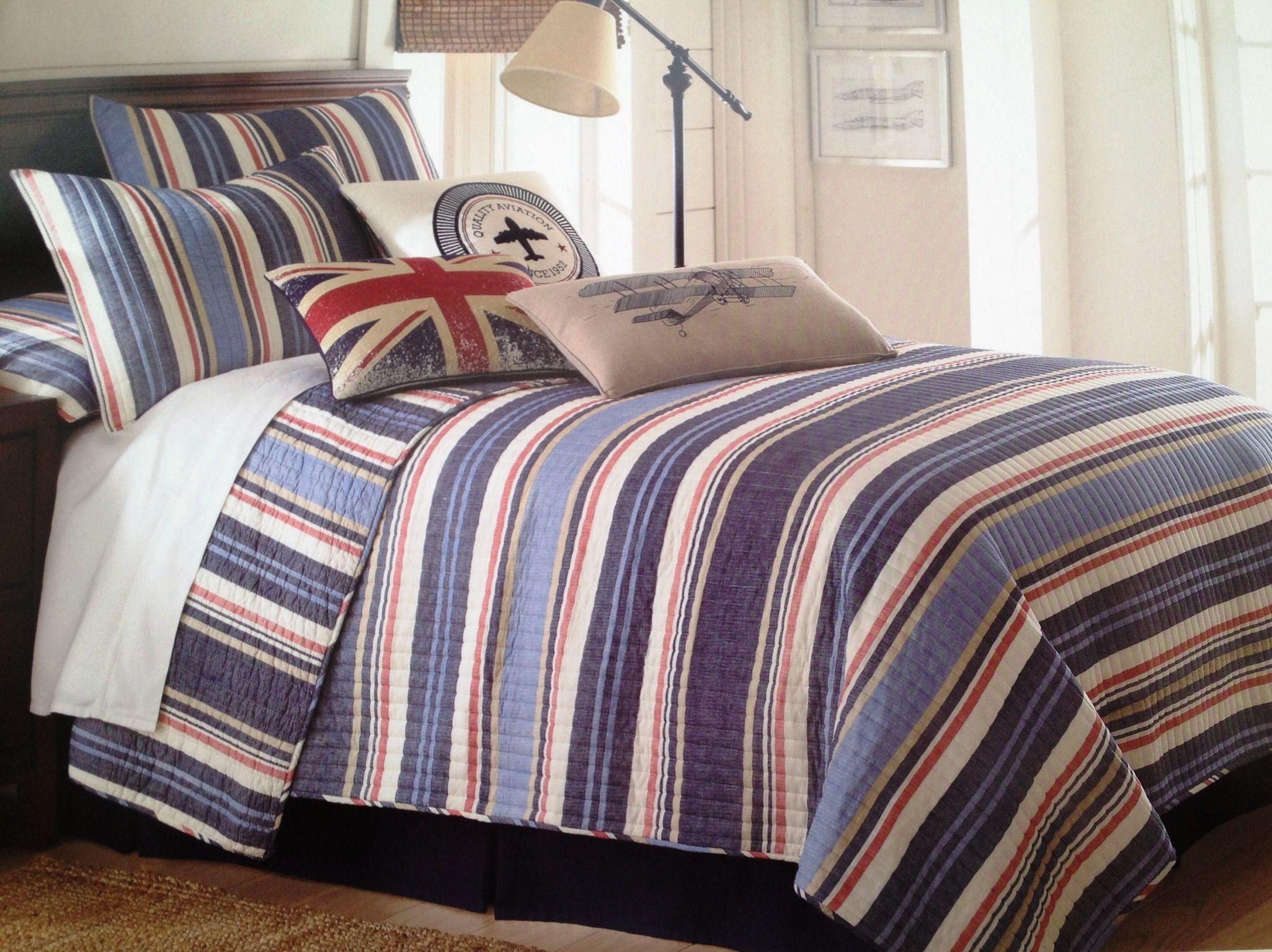 Cozy Casual Comfortable Teen Boys Bedding Oliver Denim