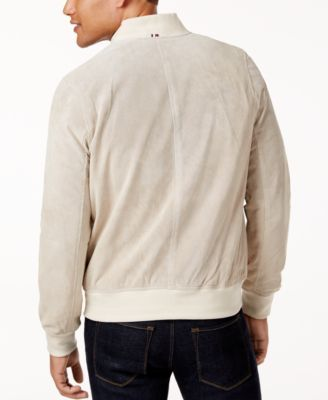 ec4709a10 Tommy Hilfiger Men's Perforated Suede Jacket - Tan/Beige XXL ...