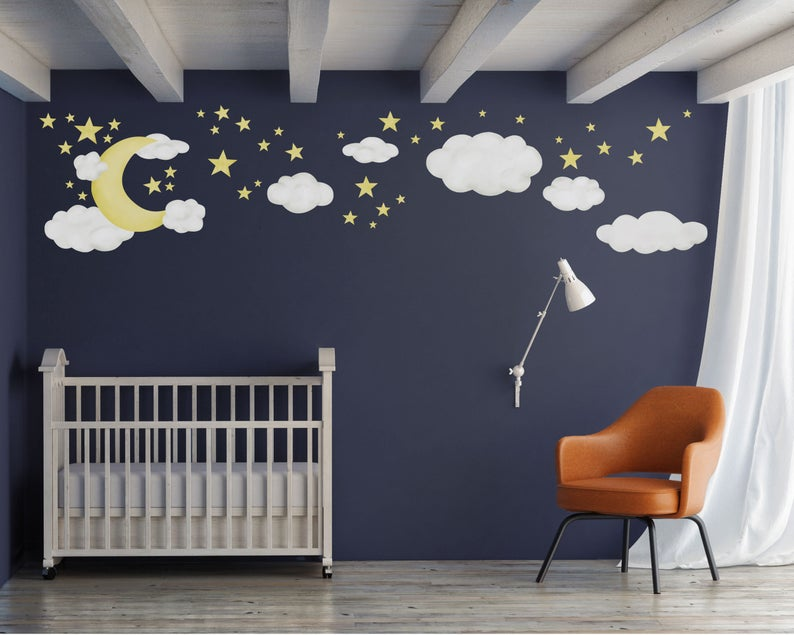 Star Wall Decals Outer Space Nursery Theme Room Decor Kids Star Wall Stickers Pack of 31