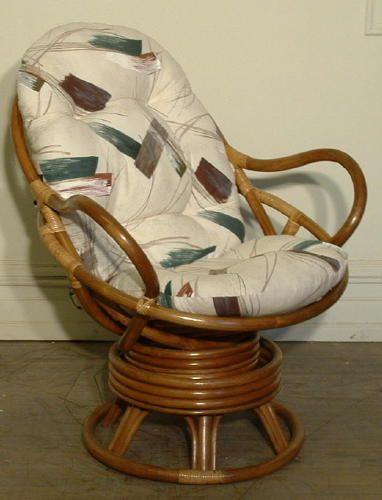 Swivel Rocker Cushion Vintage Wicker Chair Wicker Chair