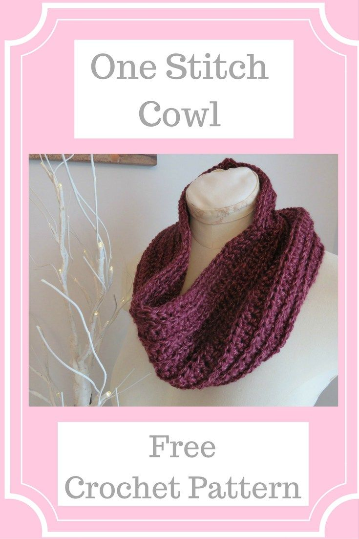 One Stitch Cowl Quick & Easy Crochet a gift in under 2 hours ...