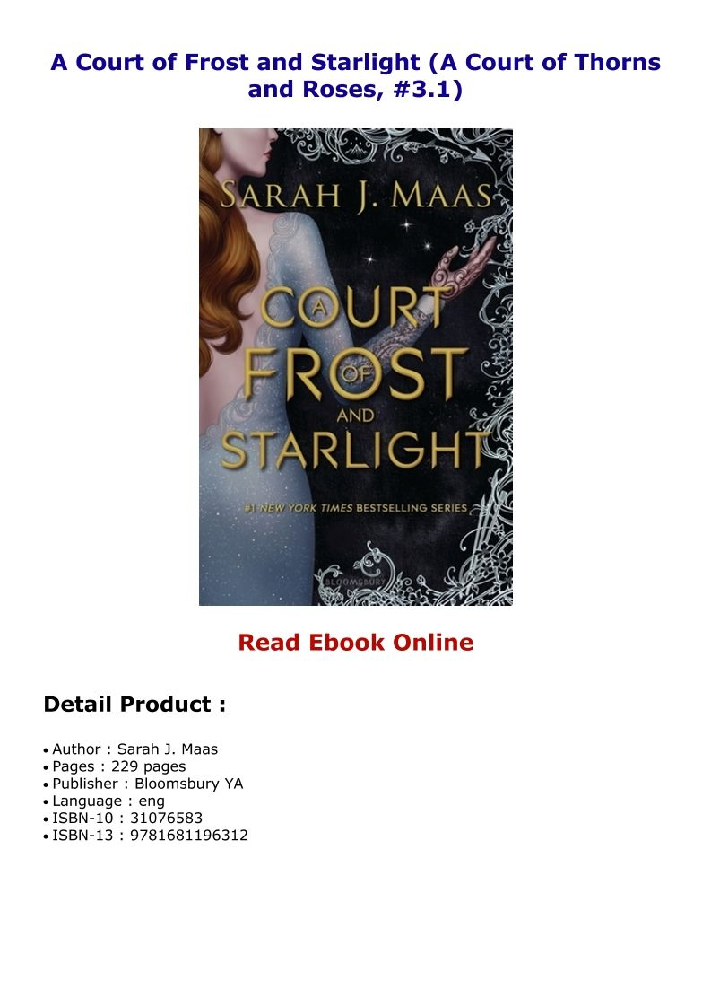 A Court Of Frost And Starlight A Court Of Thorns And Roses 3 1