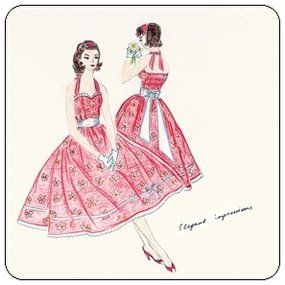 FREE Vintage 50s Style Dress Pattern and Tutorial. This dress has a perfect fit due to the elastics in the back side of the bodice. And it's gorgeous!