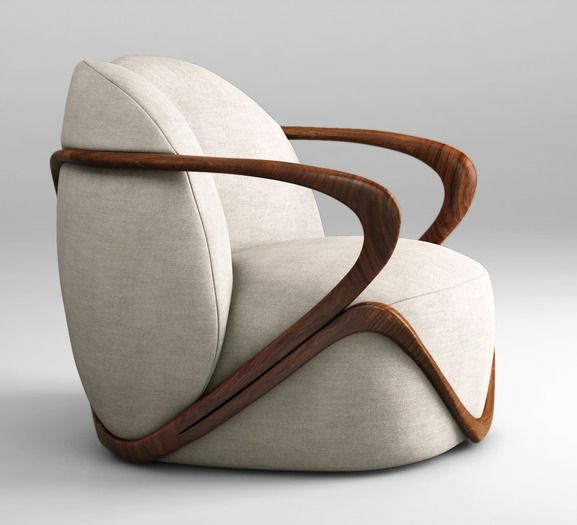 Giorgetti Hug armchair 3D Model .max .obj