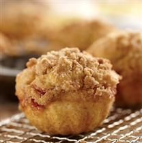 Strawberry streusel muffins.