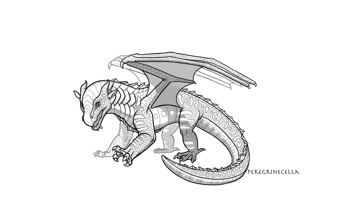 Baby Seawing Base By Peregrinecella On Deviantart In 2020 Wings Of Fire Dragons Wings Of Fire Fire Art