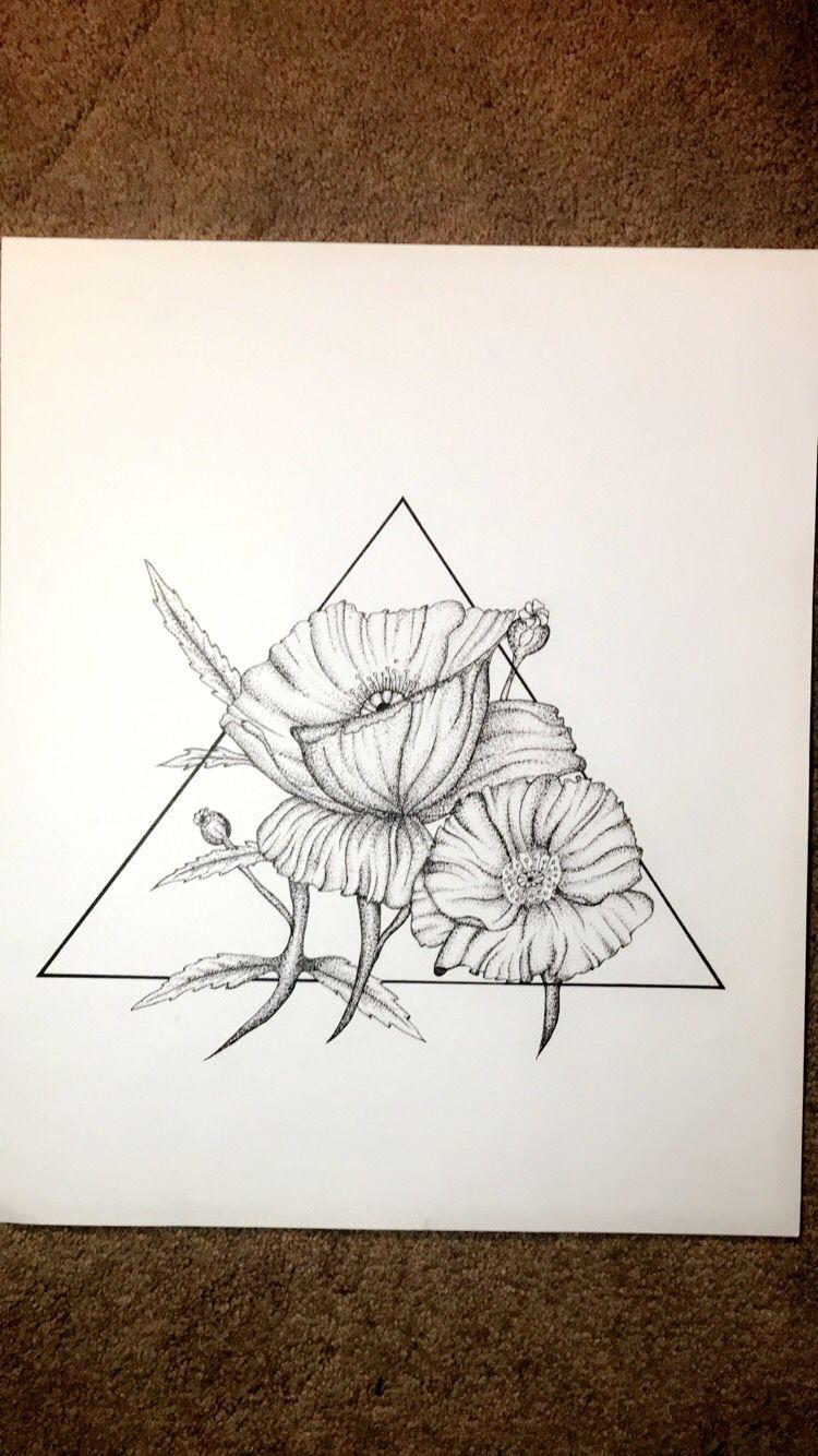 Next Tattoo Idea Poppies And Geometry Tattoo Floral