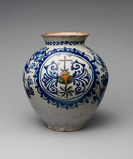 Jar Mexican The Metropolitan Museum Of Art Folk Pottery Blue Pottery Talavera Pottery