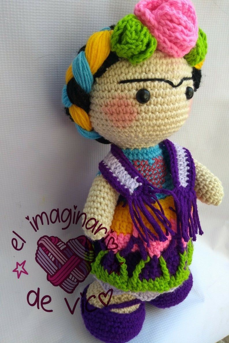 Amigurumi Pattern #Frida #fridaKahlo #amigurumi Frida Kahlo ... | 1187x794