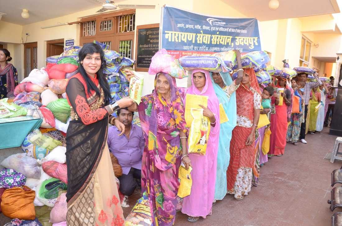 Ration Distributed Among 577 Deprived Women and in this
