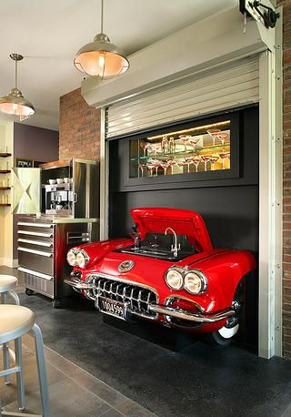 For the man cave stop off at for your car parts decoraci n automotriz - Muebles para garaje ...