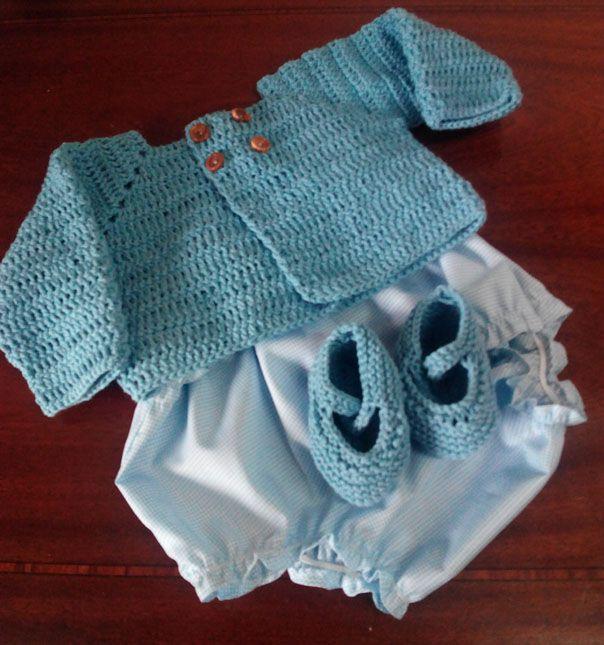 Cómo hacer una chaqueta de lana a ganchillo para recién nacido ...