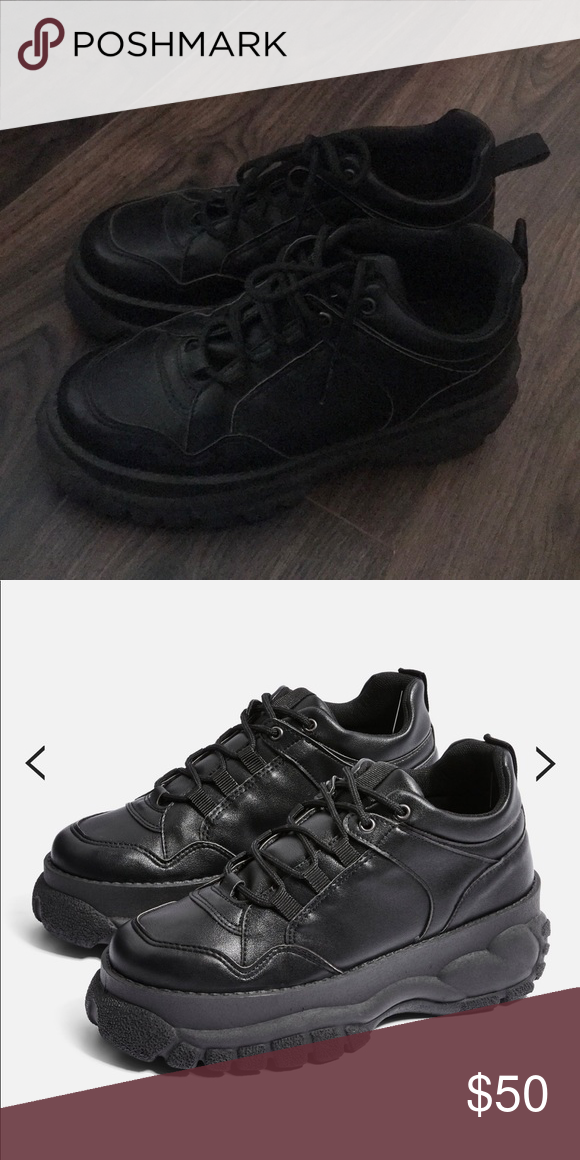 topshop cairo chunky trainers/dad shoes