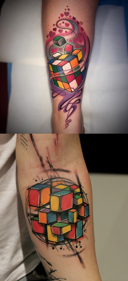 169c8083b TRIPPY RUBIK S CUBE TATTOOS