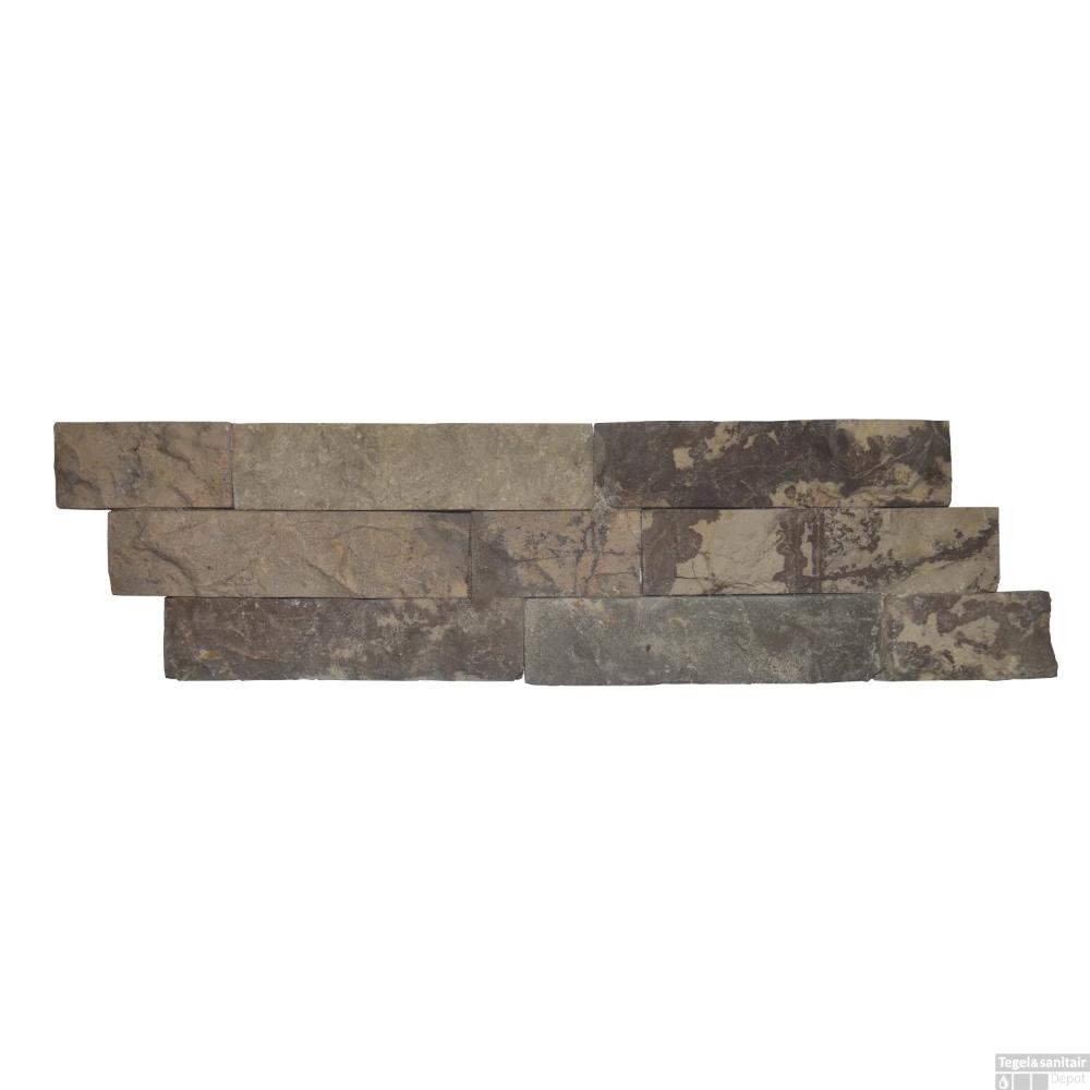 Steenstrips 01 Light Brown Marmer 15x50 cm (Prijs per 0,5m²) #downstairsloo