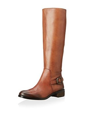 Vince Camuto Women's Volero2 Riding Boot (Western Brown/Black)