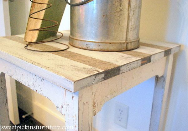 Striped Vintage Table ... and I have just the table for this!