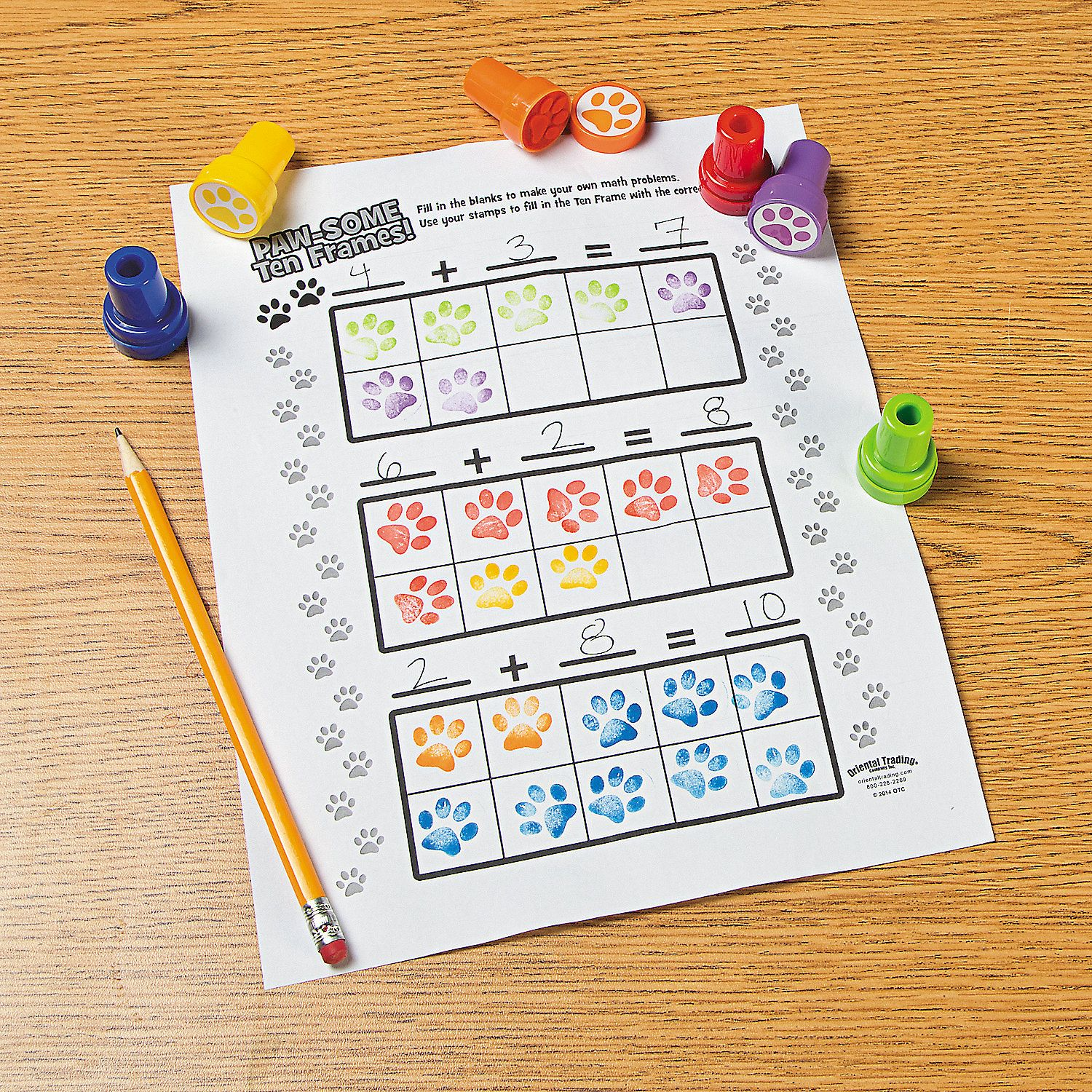 Paw Print Worksheet Idea