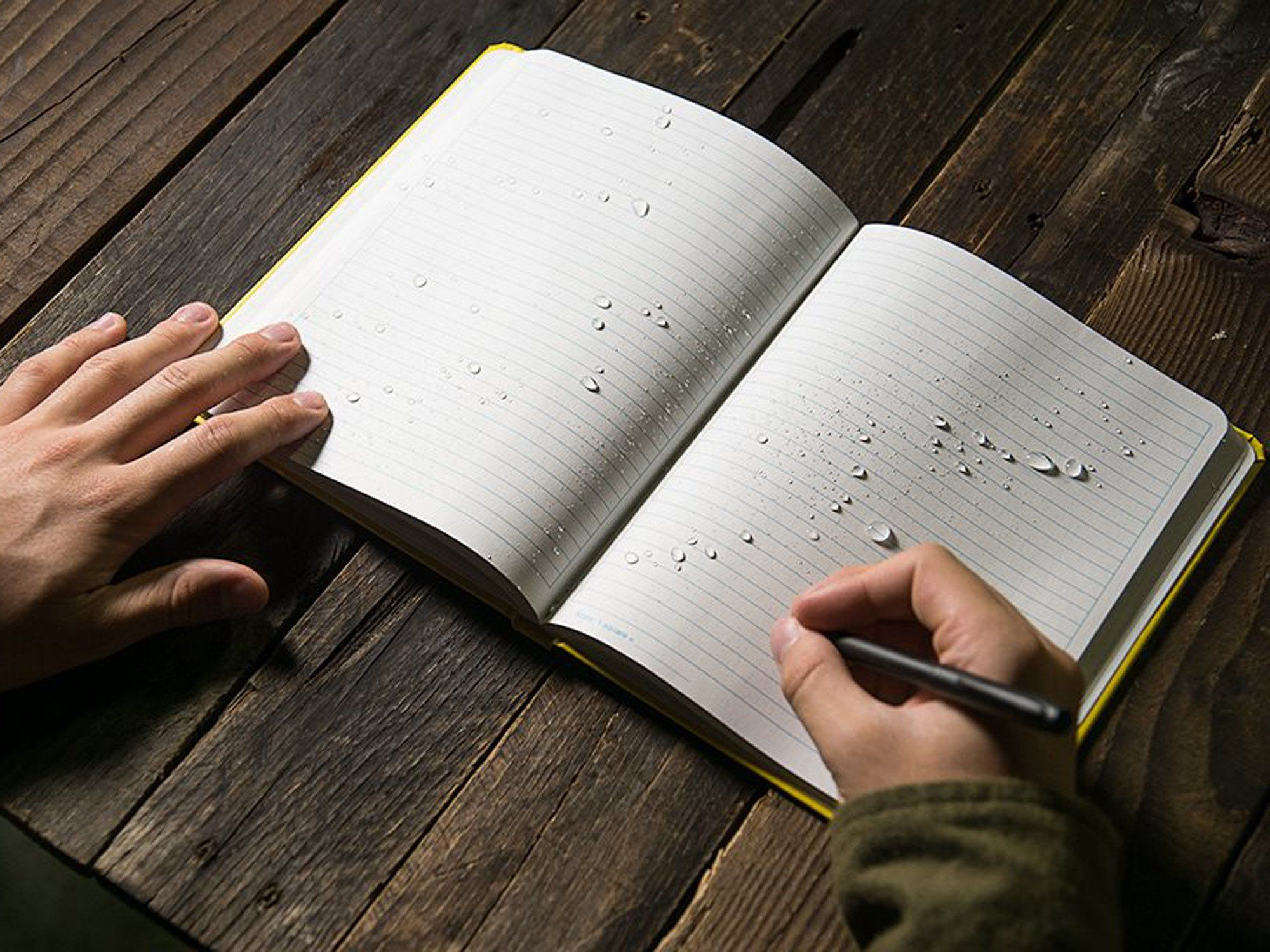 All Weather Water Proof Paper That Sheds Water And Enables Writing