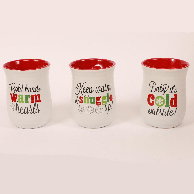Christmas Morning 3 Piece Christmas Sayings Hand Warmer 18 Oz