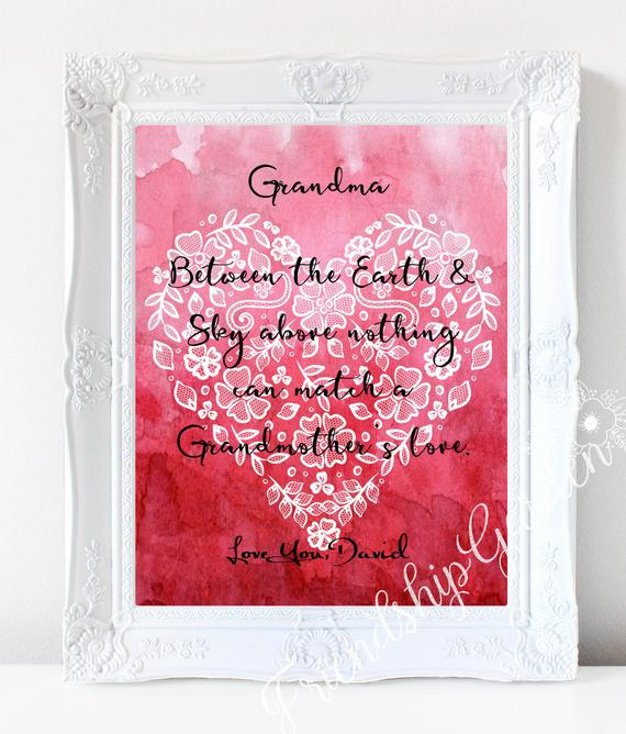 Grandma Christmas Gift Personalized Grandmother Birthday New Grand