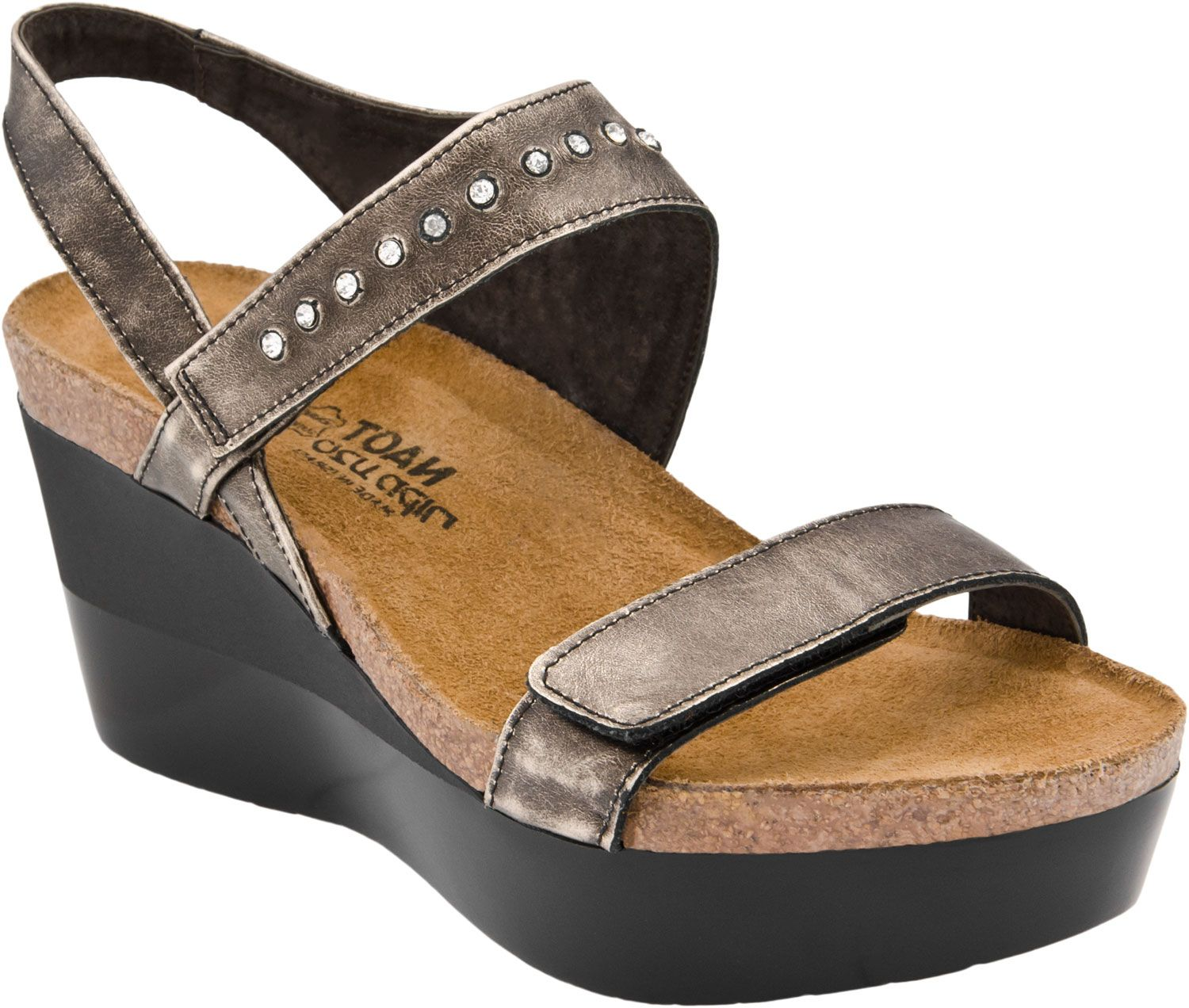 Naot Prodigy women's wedge sandals (Metal)