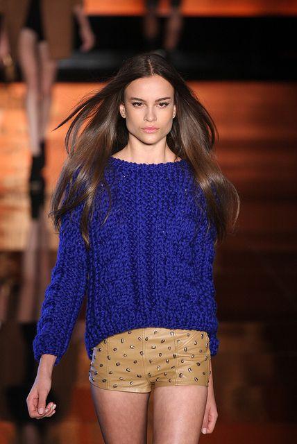 cobalt blue knit