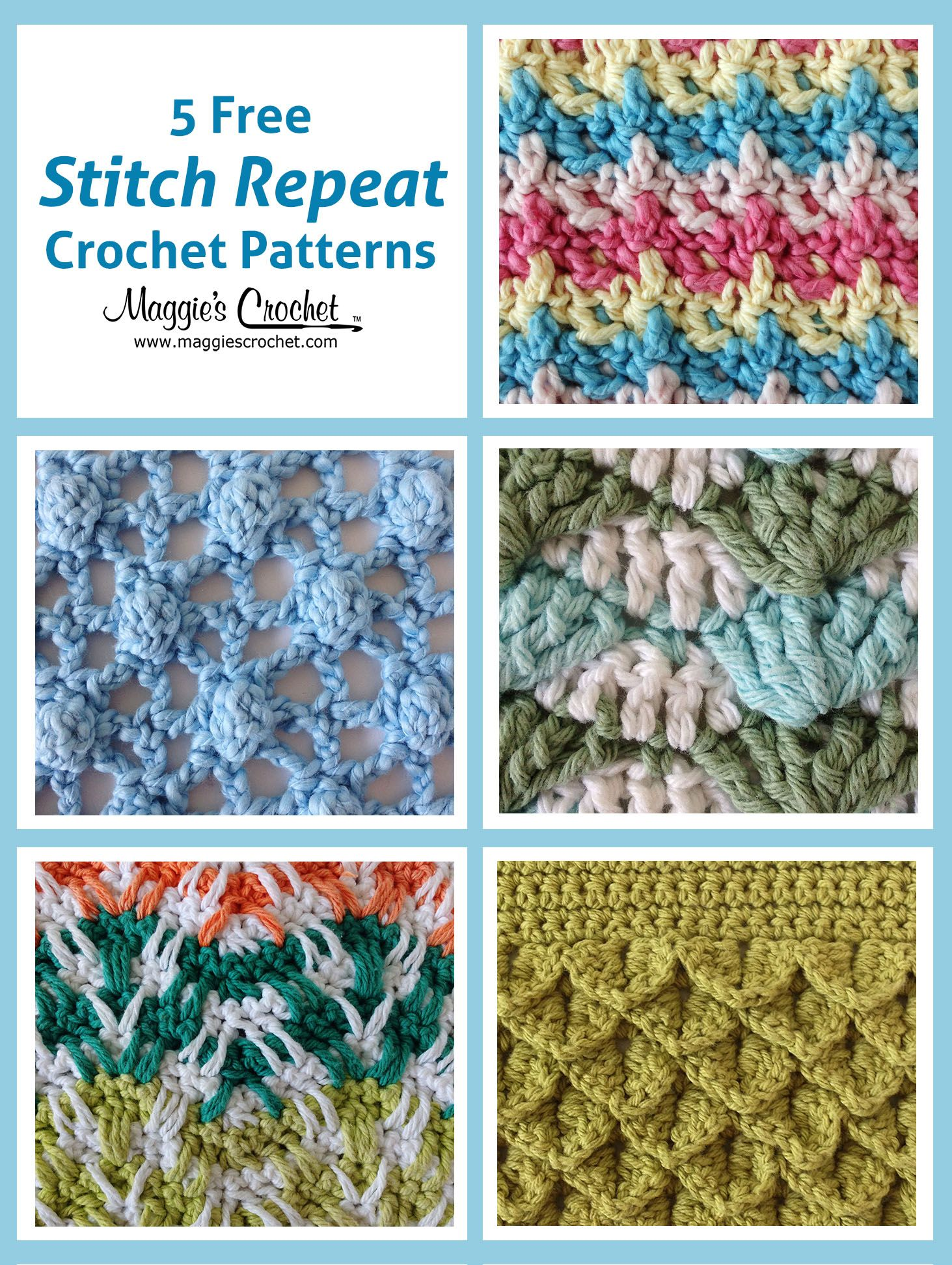 This week we are please to present five free stitch patterns crochet stitches patterns bankloansurffo Choice Image
