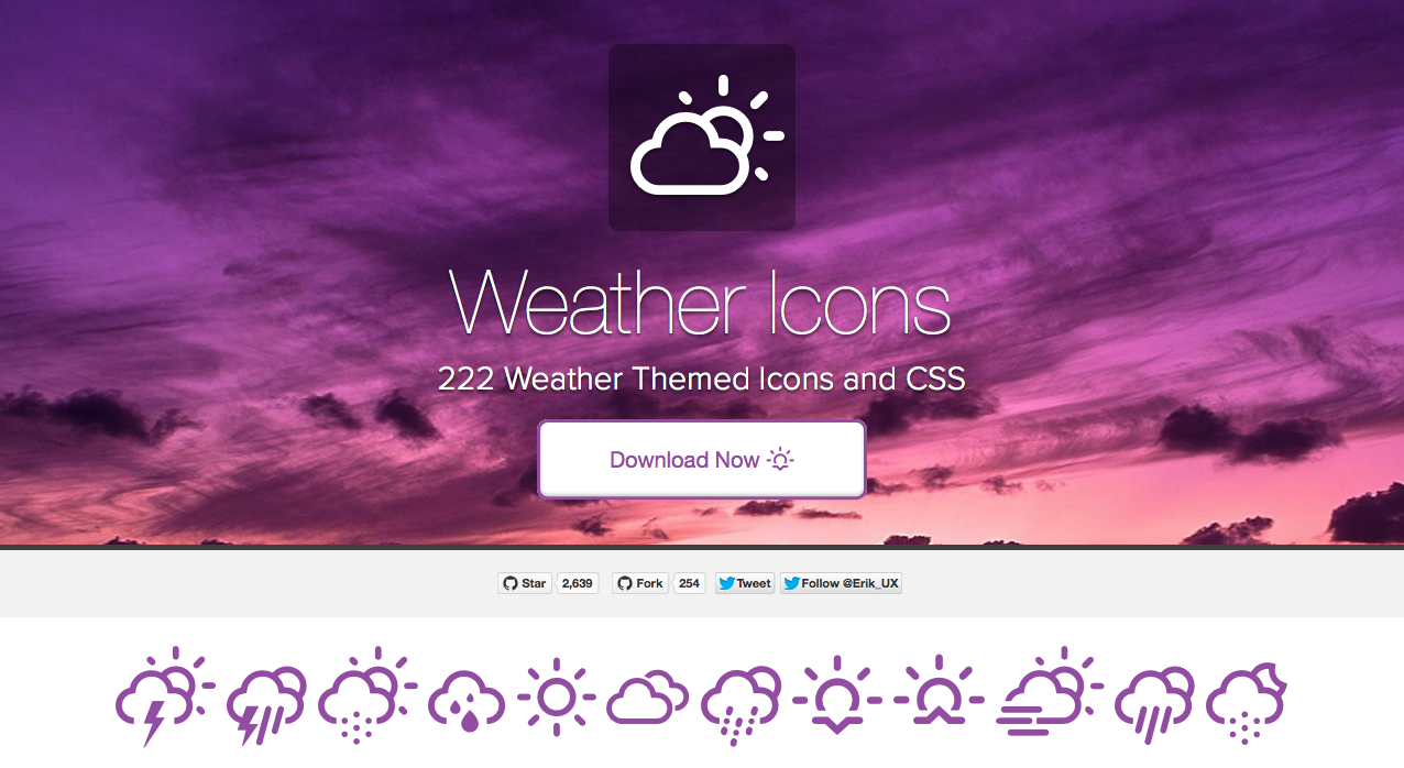 Weather Icons 222 Weather Themed Icons and CSS (With