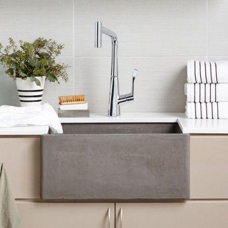 Farmhouse 2418 Farmhouse Sink Kitchen Sink Concrete Kitchen