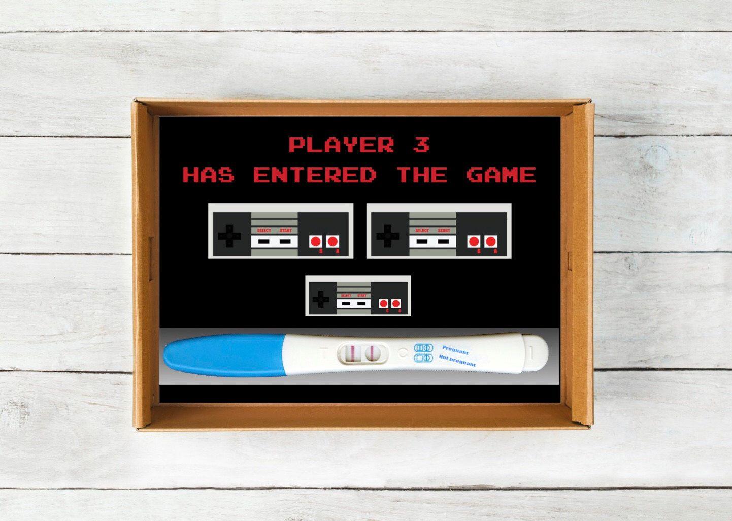 Printable Pregnancy Announcement Instant Download Nintendo – Etsy Baby Announcements