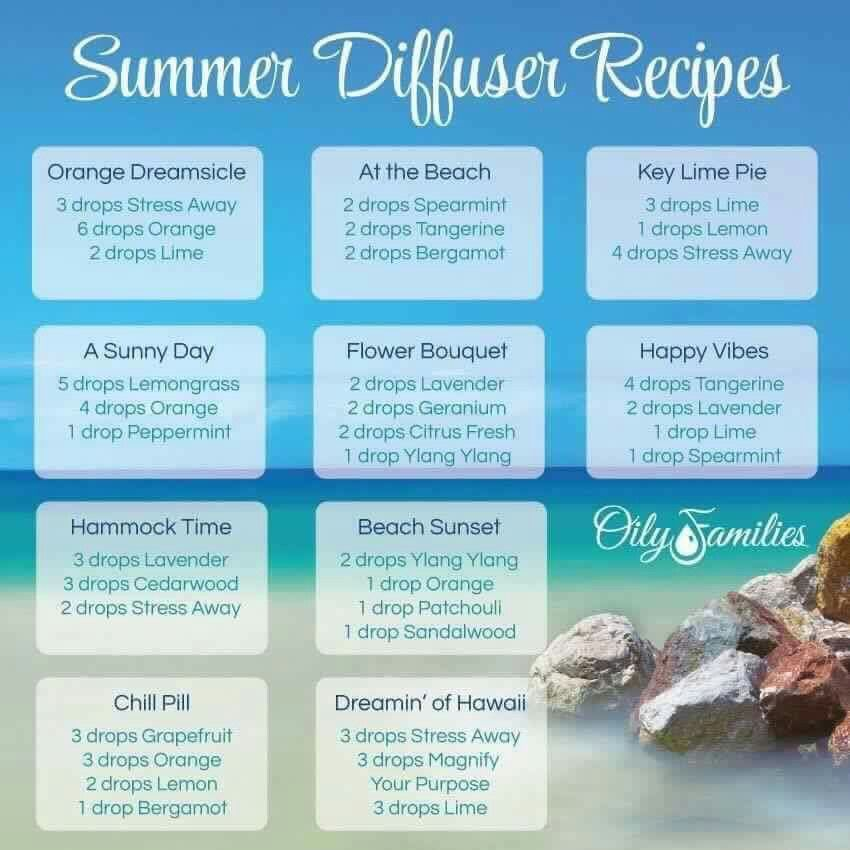 Summer Diffuser blends   Summer essential oils