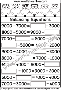 Balancing Equations  One Worksheet  Printable Worksheets